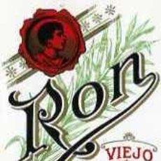 Etiquetas antiguas: ETIQUETA DE RON VIEJO SUPERIOR J. SALGA TORRAS MANRESA. Lote 5787173