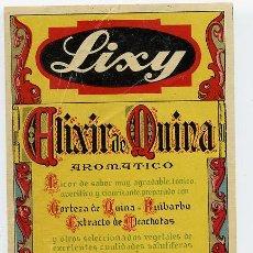 Etiquetas antiguas: MARTINI & ROSSI LIXY ETIQUETA. Lote 23542851
