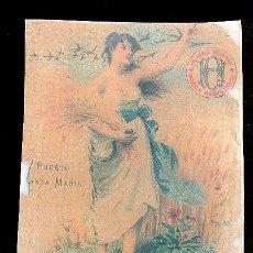 Etiquetas antiguas: COPIA DE ETIQUETA DE VINO. PUERTO DE SANTA MARIA.. Lote 8044764