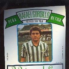 Etiquetas antiguas: ETIQUETA MANZANILLA PEÑA RAFAEL GORDILLO BETICA. B. RODRIGUEZ LA - CAVE. SANLUCAR DE BARRAMEDA.. Lote 8055979