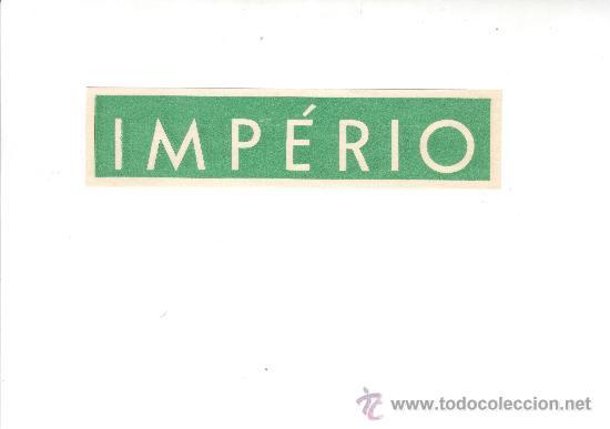 ETIQUETA HOTEL - LINEA MARITIMA -IMPERIO- MEDIDAS 30X145 MM (Coleccionismo - Etiquetas)