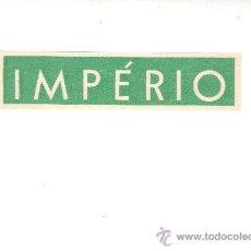 Etiquetas antiguas: ETIQUETA HOTEL - LINEA MARITIMA -IMPERIO- MEDIDAS 30X145 MM. Lote 26526355