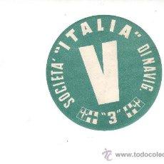 Etiquetas antiguas: ETIQUETA HOTEL-LINEA MARITIMA -ITALIA - V- DINAVIG -DIAMETRO 100 MM. Lote 24908429