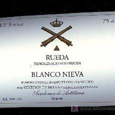 Etiquetas antiguas: ETIQUETA DE VINO DE LA ACADEMIA DE ARTILLERIA.. Lote 8894163