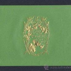 Etiquetas antigas: ETIQUETA DE PERFUMERIA MODERNISTA: SAVON SURFIN VIOLETTE. EN RELIEVE, ART NOUVEAU (20 X 14 CMS). Lote 42950805