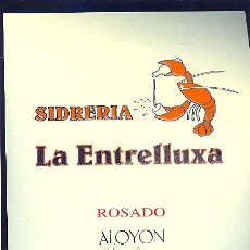 Etiquetas antiguas: ETIQUETA DE SIDRA DE LA SIDRERIA LA ESTRELLUXA. ASTURIAS.. Lote 8969046