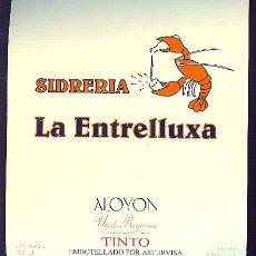 Etiquetas antiguas: ETIQUETA DE SIDRA DE LA SIDRERIA LA ESTRELLUXA. ASTURIAS.. Lote 8969072