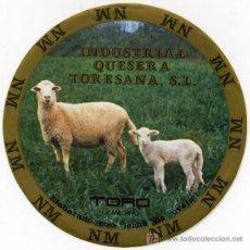 Etiquetas antiguas: ETIQUETA DE QUESO INDUSTRIAL QUESERA TORESANA.. Lote 12876587