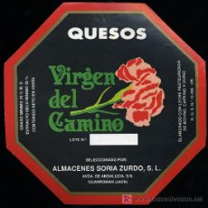 Etiquetas antiguas: ETIQUETA DE QUESO VIRGEN DEL CAMINO.. Lote 12876589