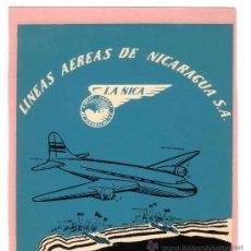 Etiquetas antiguas: ETIQUETA HOTEL-LINEA AEREA -NICARAGUA- LA NICA LINEAS AEREAS NICARAGUA S,A - MEDIDAS 110X130. Lote 24788226