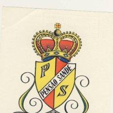 Etiquetas antiguas: ETIQUETA HOTEL -PORTUGAL - PENSAO SANDE- LISBOA-ILUSTRACION COLOR-102 X 80 MM. Lote 15483313