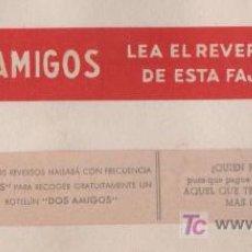 Etiquetas antiguas: PRECIOSA Y ANTIGUA ETIQUETA JUEGO DOS AMIGOS MARTINI & ROSSI. Lote 9549310