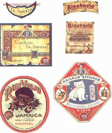 10 Etiquetas De Licores Antiguos Diferentes Sold Through