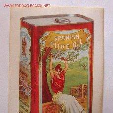 Etiquetas antiguas: ETIQUETA ADHESIVA CARBONELL CON MAS DE 40 AÑOS. Lote 27230598
