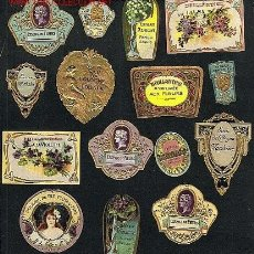 Etiquetas antiguas: 15 ETIQUETAS DE PERFUMERIA MODERNISTAS DIFERENTES, LA MAYORIA TROQUELADAS Y EN RELIEVE. PERFUME. Lote 92132598