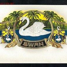 Etiquetas antiguas: ETIQUETA DE TABACO SWAN, EN RELIEVE. Lote 1933922