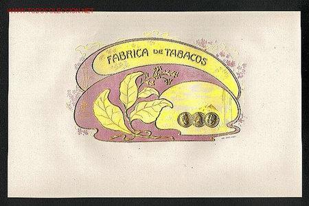 ETIQUETA DE TABACO MODERNISTA FABRICA DE TABACOS, EN RELIEVE (Coleccionismo - Etiquetas)