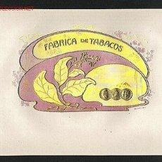 Etiquetas antiguas: ETIQUETA DE TABACO MODERNISTA FABRICA DE TABACOS, EN RELIEVE. Lote 1933986