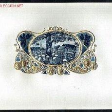 Etiquetas antiguas: ETIQUETA DE TABACO MODERNISTA CAMPO DE ALGODON, EN RELIEVE. Lote 1933993