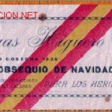 Etiquetas antiguas: ETIQUETA DE VINO COSECHA 1936 - EJEMPLAR MUY DIFICIL DE ENCONTRAR. Lote 22021498