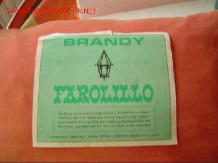 ETIQUETA BRANDY FAROLILLO. (Coleccionismo - Etiquetas)