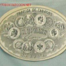 Etiquetas antiguas: ETIQUETA TABACOS UPMANN. ETIQUETA DE LA FÁBRICA DE TABACOS H. UPMANN. . Lote 33477340