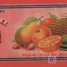 Etiquetas antiguas: ANTIGUA ETIQUETA MERMELADAS SELECTAS JOSE G. GOMEZ MURCIA. Lote 27636978