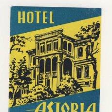 Etiquetas antiguas: ETIQUETA HOTEL - HOTEL ASTORIA- BALATONFÜRED- HUNGRIA- ILUSTRACION-MEDIDAS 90X123 MM. Lote 17085900