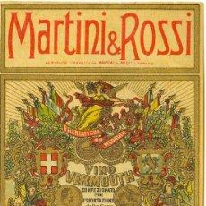 Etiquetas antiguas: ETIQUETA MARTINI & ROSSI. Lote 10256769