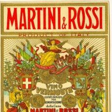 Etiquetas antiguas: ETIQUETA MARTINI & ROSSI. Lote 10256814