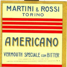 Etiquetas antiguas: ETIQUETA MARTINI & ROSSI. Lote 10256819