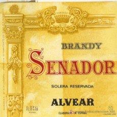 Etiquetas antiguas: ETIQUETA DE BRANDY. Lote 10704957