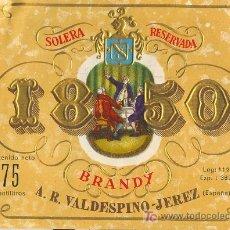 Etiquetas antiguas: ETIQUETA DE BRANDY. Lote 10704983