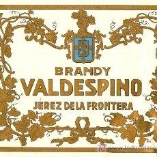 Etiquetas antiguas: ETIQUETA DE BRANDY. Lote 10704985