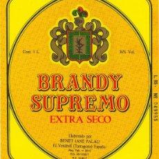 Etiquetas antiguas: ETIQUETA DE BRANDY. Lote 10705064