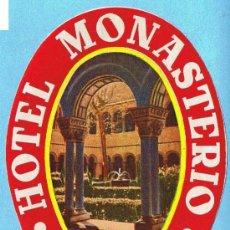 Etiquetas antiguas: ETIQUETA HOTEL MONASTERIO, RIPOLL.. Lote 27141961