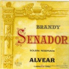 Etiquetas antiguas: ETIQUETA DE BRANDY. Lote 10907978