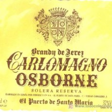Etiquetas antiguas: ETIQUETA DE BRANDY. Lote 10908194