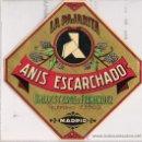 Etiquetas antiguas: BALLESTEROS Y FERNANDEZ **MADRID** LA PAJARITA -ANIS ESCARCHADO. Lote 63480608