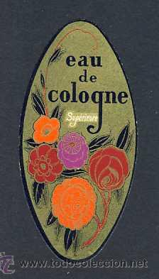 ETIQUETA DE PEFUME: EAU DE COLOGNE. TROQUELADA. ETIQUETTE PARFUM ART DECO (Coleccionismo - Etiquetas)