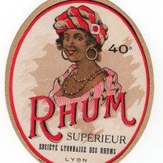 Etiquetas antiguas: ETIQUETA DE RON - RUM - RHUM. Lote 12870656