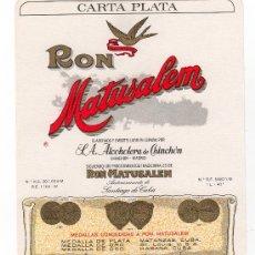 Etiquetas antiguas: ETIQUETA DE RON - RUM - RHUM. Lote 12870718