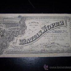 Etiquetas antiguas: ETIQUETA DE CHOCOLATES MATIAS LOPEZ MADRID ESCORIAL 40 MEDALLAS DE ORO Y PLATA. Lote 26577021