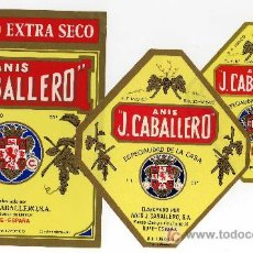 Etiquetas antiguas: ETIQUETA ANIS J.CABALLERO (ESCUDO DE CORDOBA) - HIJO DE JOSE CABALLERO CRUZ - RUTE (CORDOBA). Lote 19563274