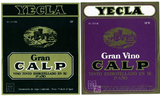 ETIQUETA VINO CALP (CASTILLO) - BODEGAS LOPEZ FERNANDEZ - YECLA (MURCIA) (Coleccionismo - Etiquetas)