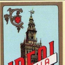 Etiquetas antiguas: ETIQUETA IDEAL CAZALLA (LA GIRALDA) - SUC.GABRIEL LOPEZ-CEPERO - CAZALLA DE LA SIERRA (SEVILLA). Lote 205853591