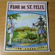 Etiquetas antiguas: CUBA ??? ETIQUETA- TABACO - CROMOLITOGRAFIA - FLOR DE ST FELIX - SIN USO-APROX 1930 CORREOS 0.80€. Lote 15825148