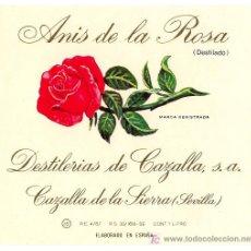 Etiquetas antiguas: ANÍS DE LA ROSA.. Lote 26619672