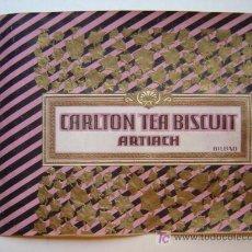 Etiquetas antiguas: CARLTON TEA BISCUIT ARTIACH, BILBAO - AÑOS 1930-40. Lote 16650287