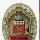 Etiquetas antiguas: *PIPPERMIN* ETIQUETA ANTIGUA . Lote 21701148